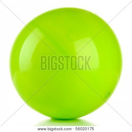 Bright green ball isolated on white