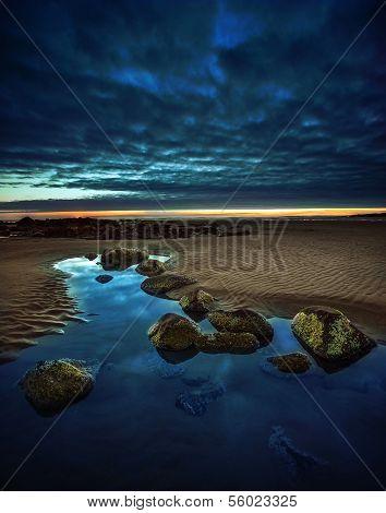 Tranquil Beach Landscape