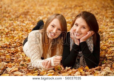 Two Young Females Outdoors