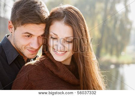 Young Couple Close-up