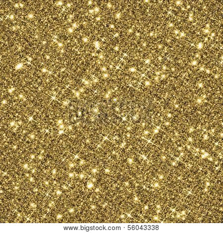 Gold glitter texture background.