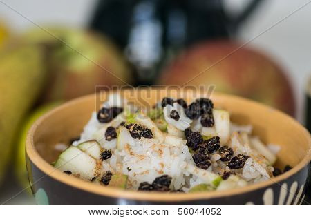 Vegetarian Rice With Pears Vitamin Breakfast