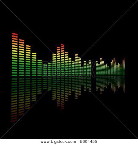 3D Dual Audio Led Level Meter