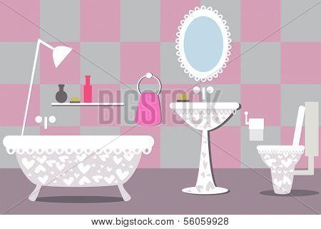 illustration of bathroom