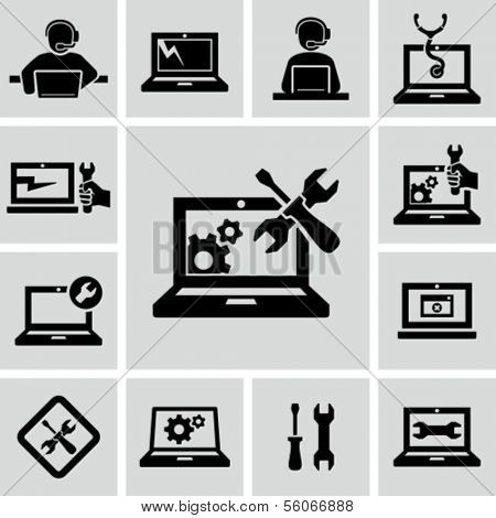 Computer repairs icons