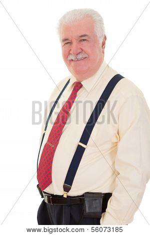 Confident Relaxed Senior Man