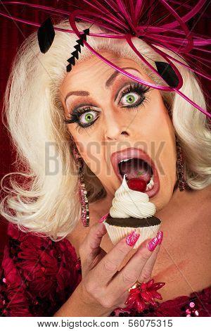 Actress Eating Cupcake