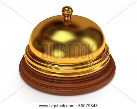Golden hotel reception bell