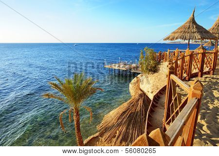 Beach at the luxury hotel Sharm el Sheikh Egypt poster