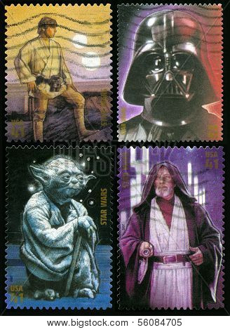 Star Wars Us Postage Stamps