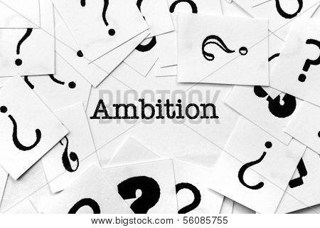 Ambition Concept