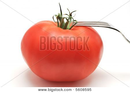 Tomato With Fork