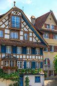 Typical Swiss (Half) Timbered Houses, Switzerland (Zug) poster