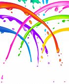 Lots of colorful liquid paint splatter - seems like a cheerful shower. poster