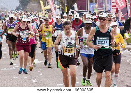 Unknown Runners Competing In Comrades Ultra Marathon