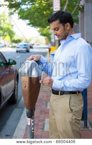 Paying The Parking Meter