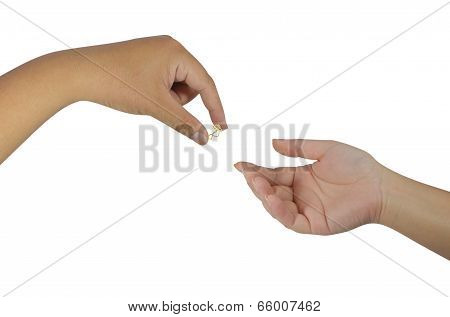 Hand Holding A Ring