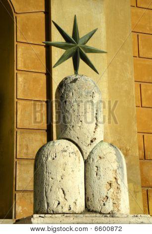 Sculpture In The Vatican Courtyard.