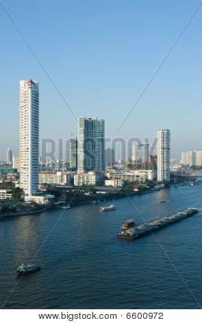 Chao Praya River In Bangkok, Thailand