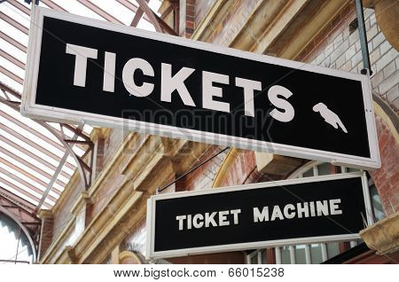 Tickets signs.