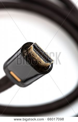 hdmi cable close-up on a white background