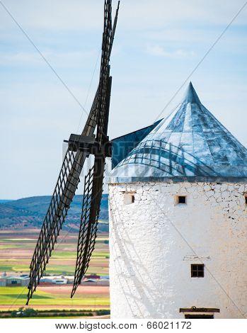 windmill in Campo de Criptana. La Mancha, Spain