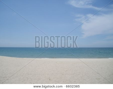 Blue Sky And White Beach