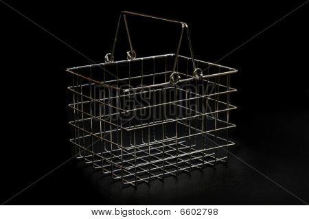 Small Chrome Basket On Black