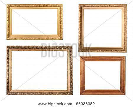 Four Antique Picture Frames.