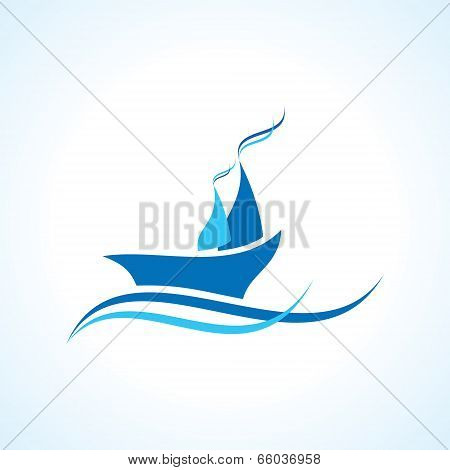 creative yacht or boat design vector