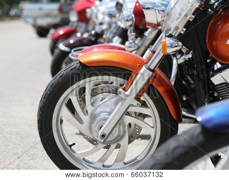 Motorcycle Bikes at poker run