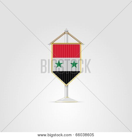 Illustration of national symbols of Asian countries. Syria.
