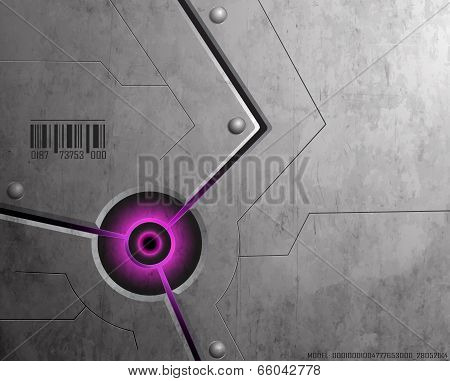 Techno Background Purple
