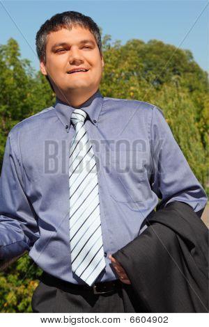 Businessman Outdoor In Summer