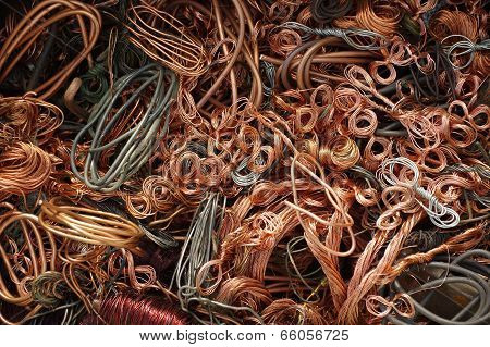 copper wires backgrouns