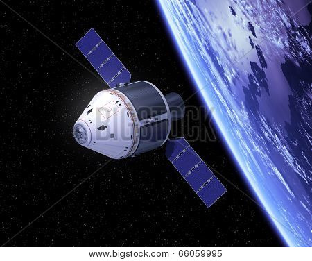 Crew Exploration Vehicle In Space