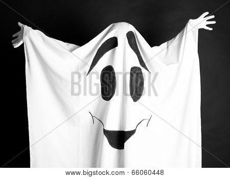 Halloween ghost, on dark background poster