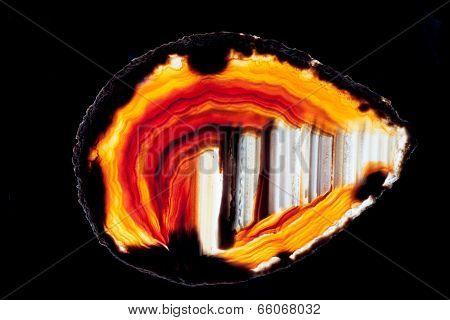 Agate Quartz Silica Gem Semi-translucent Slice