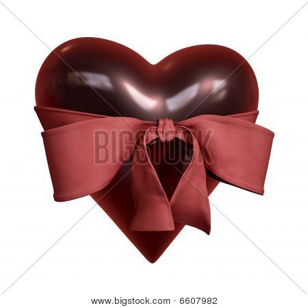 Heart with a red tie