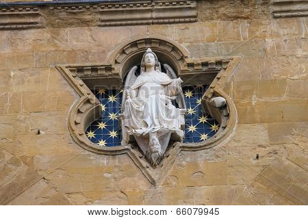 Statue of Justice at Loggia dei Lanzi Florence Italy