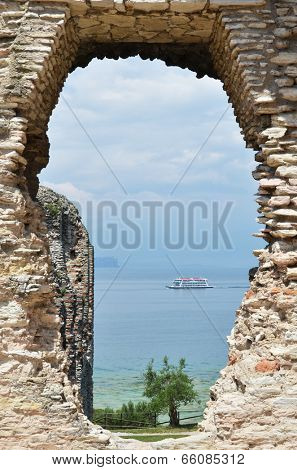 Roman Catullus villa archaeological excavations in Sirmione, Garda, Italy