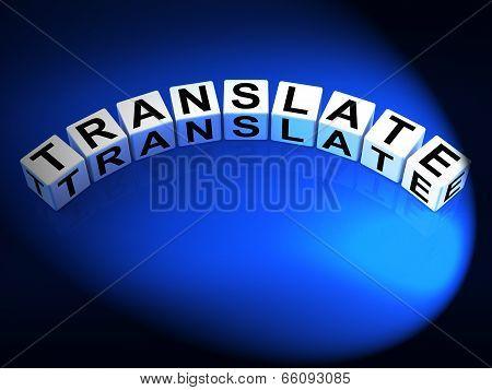 Translate Dice Show Multilingual Or International Translator