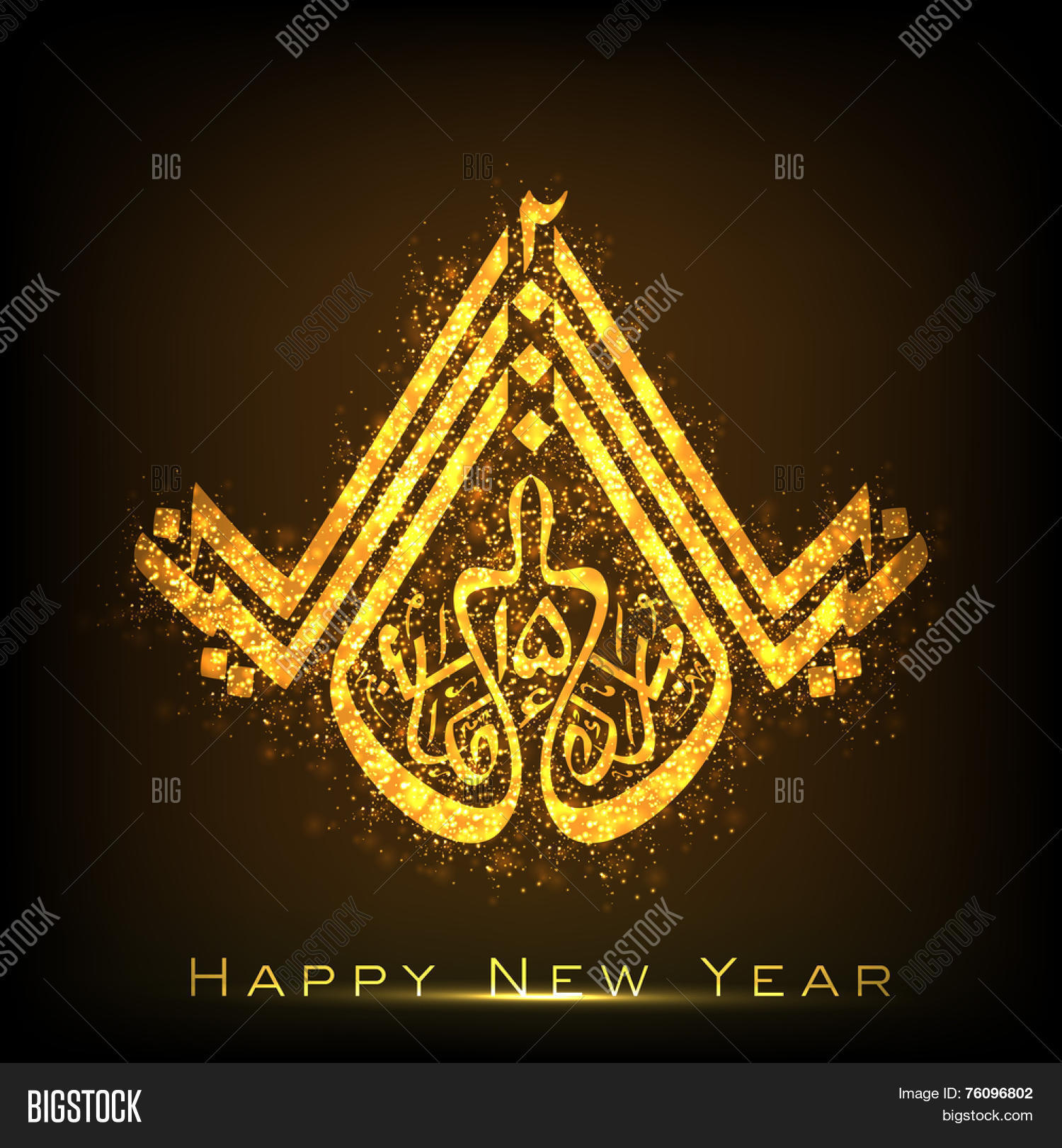 Beautiful greeting card design vector photo bigstock beautiful greeting card design with shiny golden urdu islamic calligraphy of text naya saal mubarak 2015 kristyandbryce Gallery