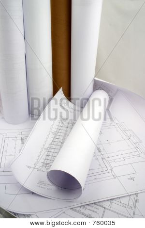 Designs And Rolls Of Paper