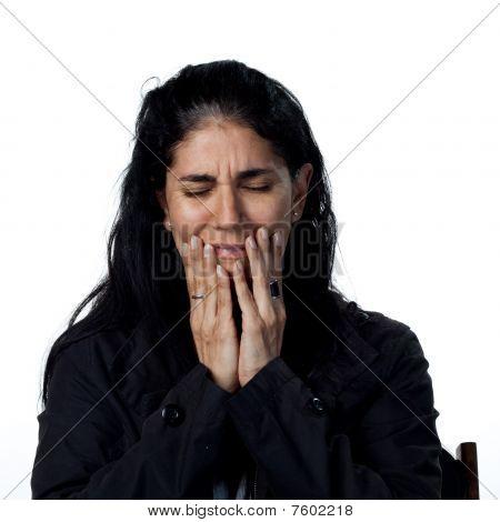 Hispanic Woman Crying
