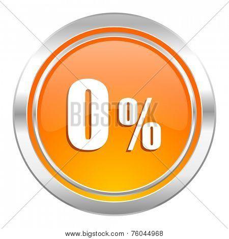 0 percent icon, sale sign