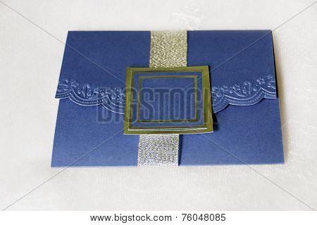 Royal Blue Invitation