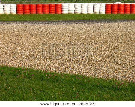 Run-off area on a race course