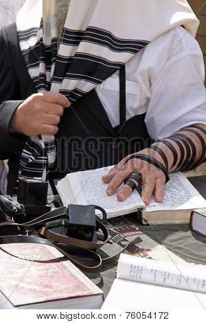Jewish Prayer. Western Wall. Jerusalem