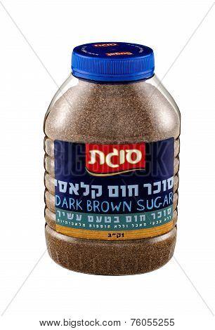 Plastic Jar Of Sugat Dark Brown Sugar